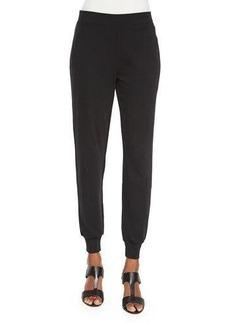 Joan Vass Cotton Interlock Jog Pants