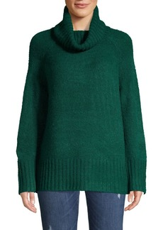 Joan Vass Cowlneck Raglan Sleeve Sweater
