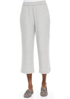 Joan Vass Cropped Cotton Interlock Pants