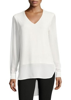 Joan Vass Cuffed-Sleeves Long Blouse