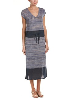 Joan Vass Linen-Blend Midi Dress