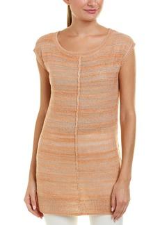 Joan Vass Linen-Blend Tunic