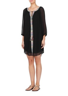 joan vass New York Embroidered Dress