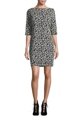 joan vass Floral Sheath Dress