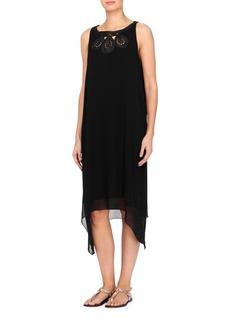 joan vass New York Sleeveless Midi Dress
