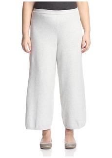 Joan Vass Plus Women's Wide Leg Pant