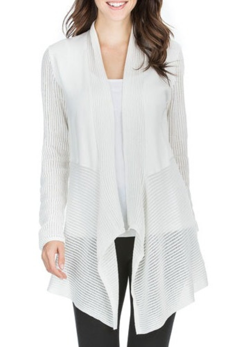drape drapes longline cardigan m gray in color sweater block front sweaters