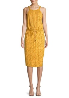 Joan Vass Printed Halterneck Dress
