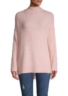 Joan Vass Ribbed High-Low Sweater