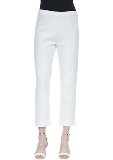 Joan Vass Slim Ponte Ankle Pants