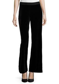 Joan Vass Velvet Wide-Leg Pants