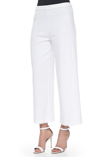 Joan Vass Wide-Leg Interlock Pants
