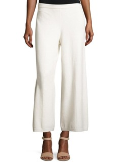 Joan Vass Wide-Leg Knit Easy Pants