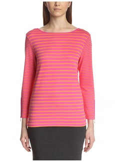 Joan Vass Women's 3/4 Sleeve Sweater