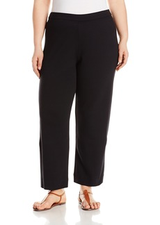 Joan Vass Women's Ankle Stretch Interlock Pant  XS
