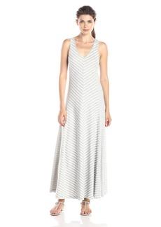 Joan Vass Women's Chevron Stripe Maxi Dress