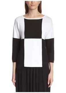 Joan Vass Women's Colorblock Sweater