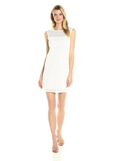 Joan Vass Women's Cotton Mesh Dress  S