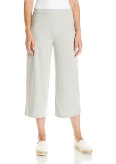 Joan Vass Women's Cropped Wide Leg Pant