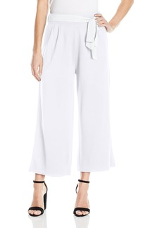 Joan Vass Women's Culottes with Tie Belt  XL