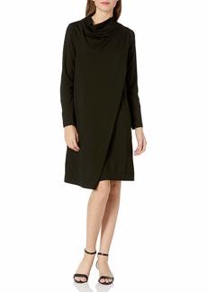 Joan Vass Women's Drape Front Dress