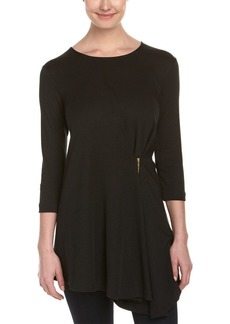 Joan Vass Women's Drape Front Tunic  M