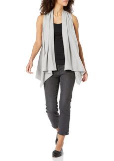 Joan Vass Women's Drape Front Vest