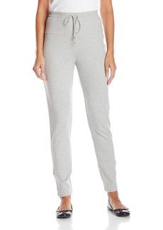 Joan Vass Women's Full Length Pant with Silk Trim