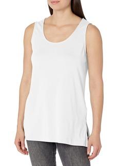 Joan Vass Women's Long Cotton Layering Tank