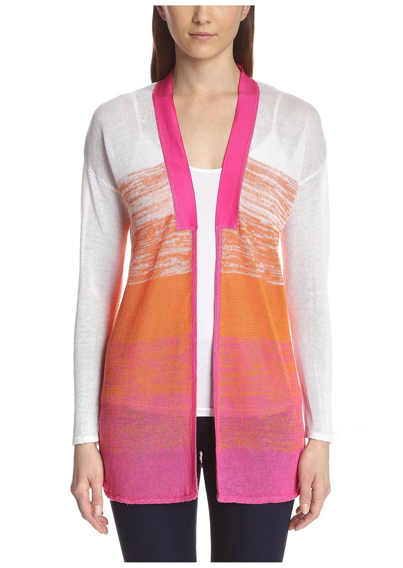 Joan Vass Women's Open Front Cardigan
