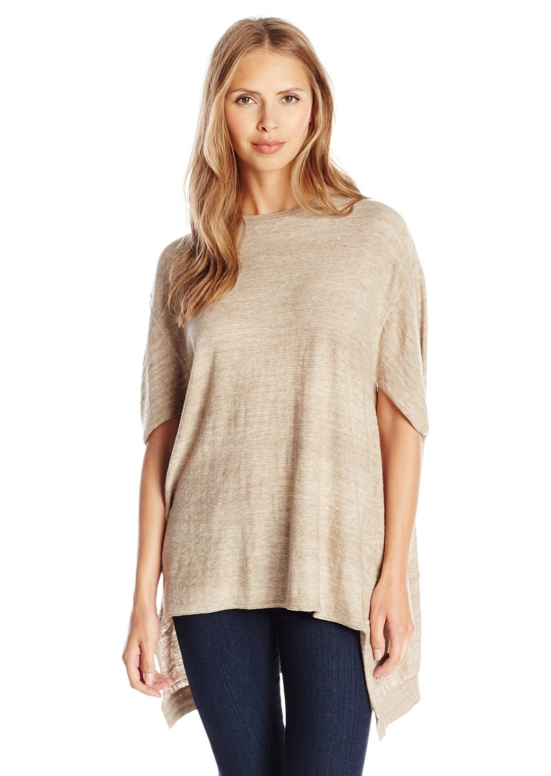 Joan Vass Women's Oversized Seamed Sweater