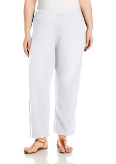 Joan Vass Women's Plus Size Ankle Stretch Interlock Pant
