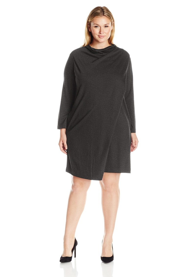 Women\'s Plus Size Draped Front Dress 2X