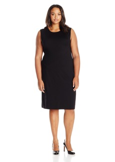 Joan Vass Women's Plus Size Geometric Seamed Dress  3X
