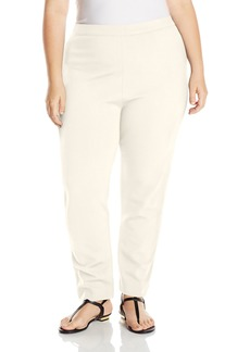 Joan Vass Women's Plus Size Ponte Pant