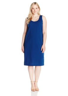 Joan Vass Women's Plus Size Stretch Pique Tank Dress  2X