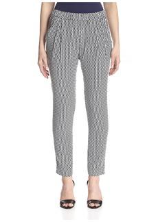Joan Vass Women's Printed Pant