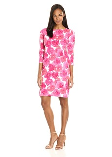 Joan Vass Women's Printed Pique Cotton Dress  XS
