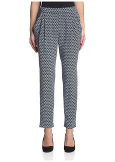 Joan Vass Women's Printed Silk Pant  1 IT/