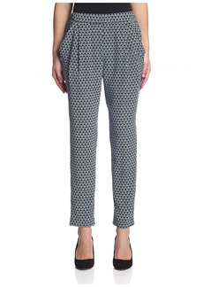 Joan Vass Women's Printed Silk Pant  3 IT/