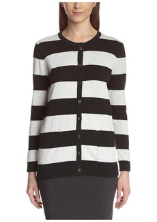 Joan Vass Women's Stripe Cardigan