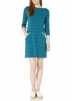 Joan Vass Women's Stripe Cotton Interlock Dress  XS