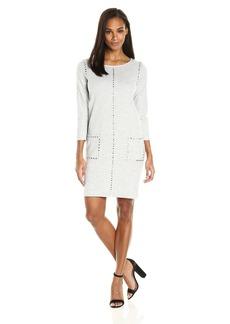 Joan Vass Women's Studded Cotton Dress  L