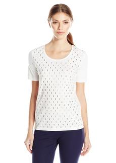 Joan Vass Women's Studded Cotton T-Shirt