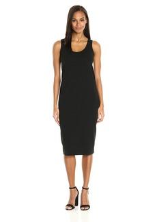 Joan Vass Women's Tank Stretch Pique Dress  S