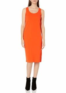 Joan Vass Women's Tank Stretch Pique Dress  XS
