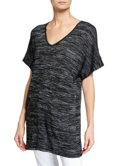 Joan Vass Knit Dolman Sleeves Top