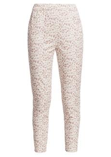 Joan Vass Leopard Cropped Pants