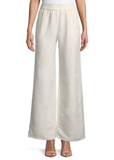 Joan Vass Linen-Blend Wide-Leg Pants