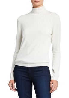 Joan Vass Long-Sleeve Turtleneck Sweater